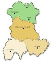 Carte région Auvergne