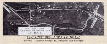 Photo aérienne du circuit des Landais