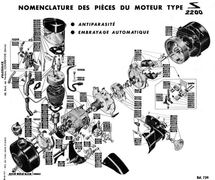 plan moteur solex 2200