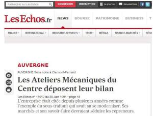 Article Les Echos 1991