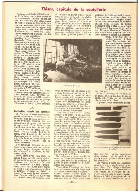 Article - Thiers, capitale de la coutellerie