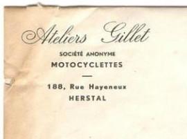 Entête de courrier Ateliers Gillet