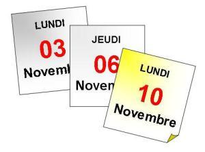 Lundi 10 novembre