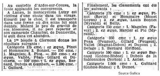 Suite de l'article du 29 août 1927
