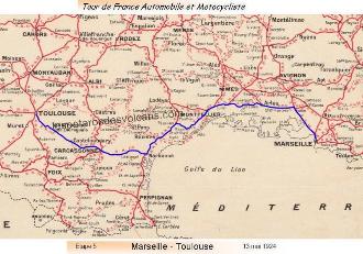 Tour de France automobile et motocycliste 1924 - étape 5