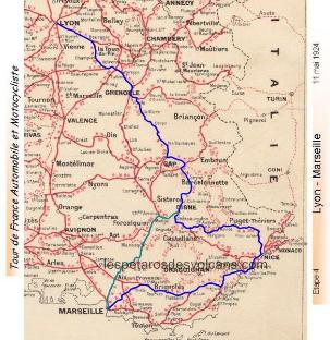 Tour de France automobile et motocycliste de 1924 - étape 4
