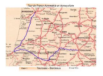 Tour de France automobile et motocycliste 1924 - étape 6
