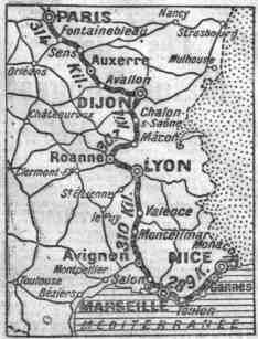 Carte première étape Paris-Nice1923
