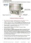 Les instructions d'utilisation - page 1