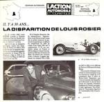 30ième anniversaire de la disparition de Louis Rosier